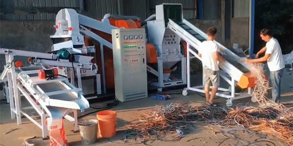 Loading 600S copper wire granulator recycling machine to Japan- KLAY